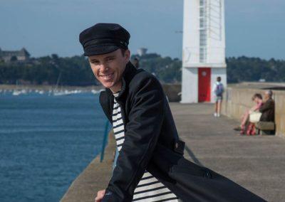 Manteau Milan Dalmard Marine - drap de laine marin chez Boutique BENIC Saint-Malo