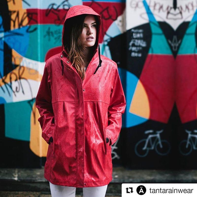 Tantä rainwear veste de pluie rouge